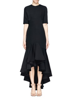 ELLERY 'Lullaby' ruffle dip hem crepe dress