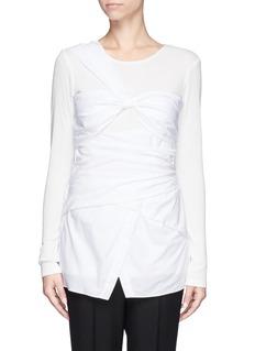 THAKOONCotton poplin wrap shirt top