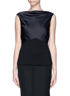 JASON WU Cowl neck satin panel jersey top