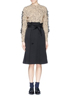 TOGA ARCHIVES Spot print bow appliqué sweater