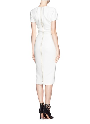 Back View - Click To Enlarge - Victoria Beckham - Abstract graphic double crepe sheath dress