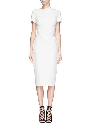 Main View - Click To Enlarge - Victoria Beckham - Abstract graphic double crepe sheath dress