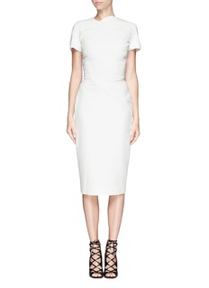 VICTORIA BECKHAMAbstract graphic double crepe sheath dress