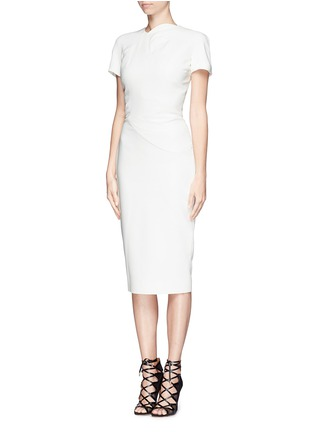 Figure View - Click To Enlarge - Victoria Beckham - Abstract graphic double crepe sheath dress