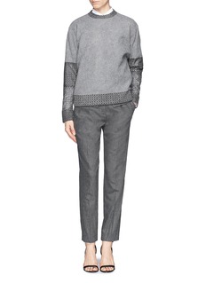 PRABAL GURUNG Side flap twill felt cropped pants