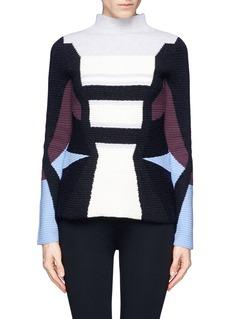 PETER PILOTTORib knit wool-angora sweater