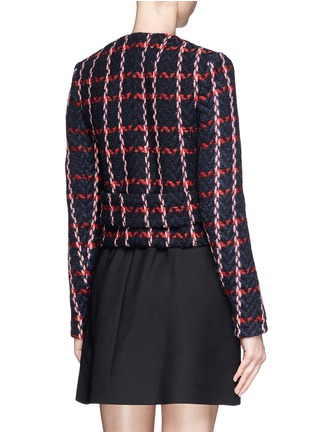 Back View - Click To Enlarge - Victoria Beckham - Check herringbone cropped jacket