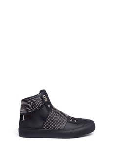 Jimmy Choo 'Archie' stud high top leather slip-on sneakers