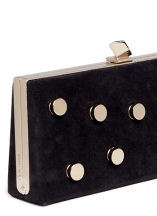 - Jimmy Choo - 'Celeste/S' interchangeable Swarovski crystal button suede clutch
