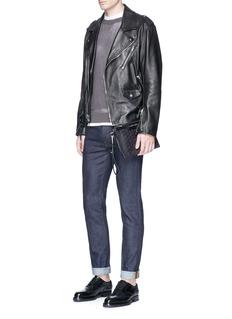 Jimmy Choo'Derek' embossed star leather mini zip pouch