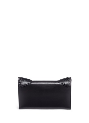 Detail View - Click To Enlarge - Jimmy Choo - 'Isabella' tiered ruffle leather clutch
