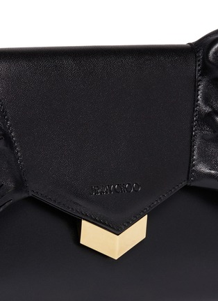 - Jimmy Choo - 'Isabella' tiered ruffle leather clutch