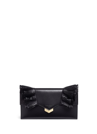 Main View - Click To Enlarge - Jimmy Choo - 'Isabella' tiered ruffle leather clutch