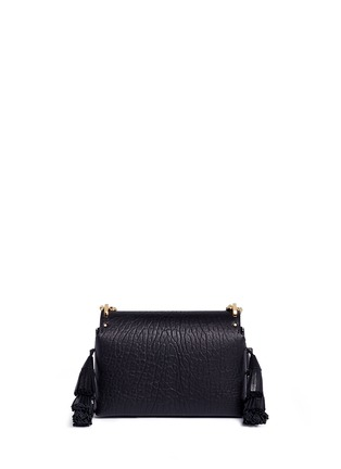 Detail View - Click To Enlarge - Jimmy Choo - 'Lockett Petite' tassel crinkled leather shoulder bag
