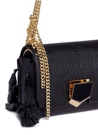 - Jimmy Choo - 'Lockett Petite' tassel crinkled leather shoulder bag