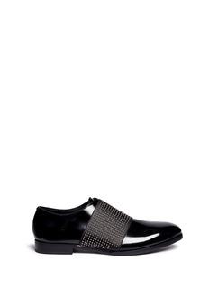 Jimmy Choo'Peter' stud embellished leather slip-ons