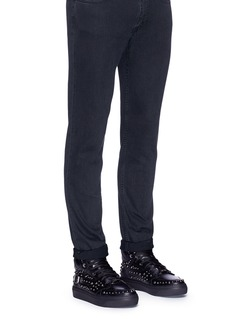 Jimmy Choo'Ruben' stud leather high top sneakers