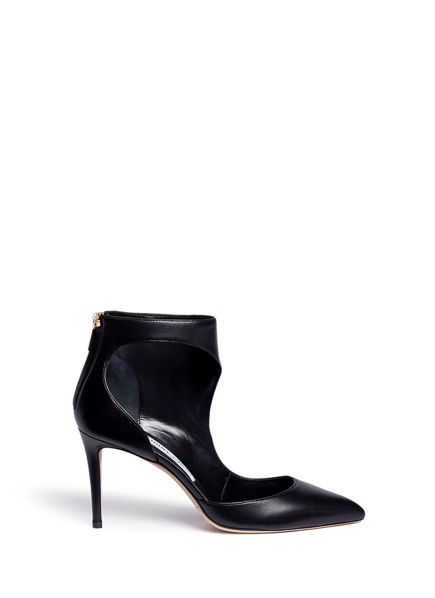Taris 85 cutout nappa leather ankle boots by Jimmy Choo