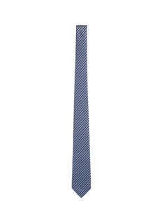 Lanvin Houndstooth embroidered silk tie