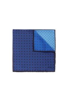 LanvinDot print colourblock silk pocket square