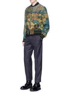 Dries Van Noten Camouflage and tapestry print bomber jacket