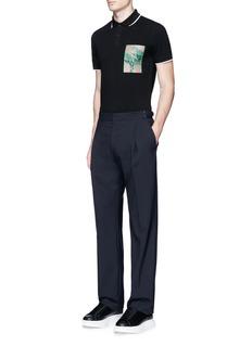 McQ Alexander McQueenLogo print cotton polo shirt