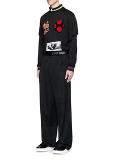 McQ Alexander McQueenPolka dot appliqué floral print T-shirt