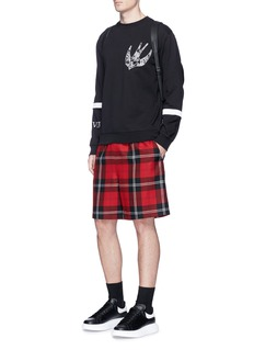 McQ Alexander McQueenPaisley swallow embroidered sweatshirt