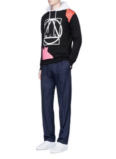McQ Alexander McQueenAbstract glyph logo print sweatshirt