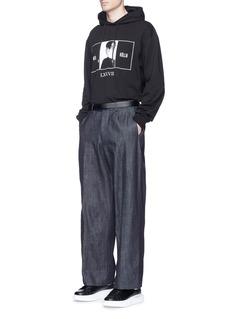 McQ Alexander McQueenPortrait print cotton hoodie