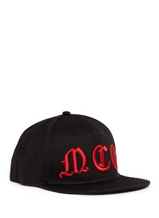 McQ Alexander McQueenGothic logo embroidered baseball cap