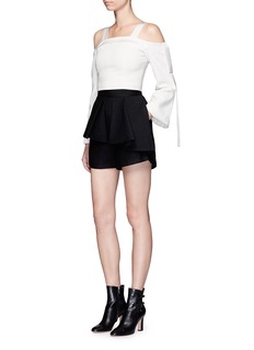 C/Meo Collective  Need Nobody' ruffle front shorts