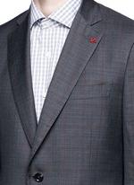 'Gregory' overcheck Aquaspider wool suit