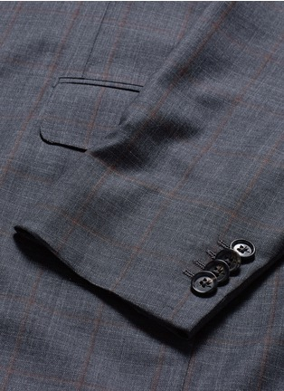Detail View - Click To Enlarge - ISAIA - 'Gregory' overcheck Aquaspider wool suit
