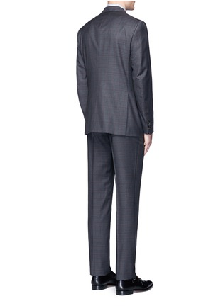Back View - Click To Enlarge - ISAIA - 'Gregory' overcheck Aquaspider wool suit