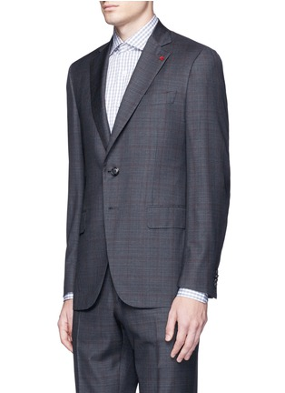 Front View - Click To Enlarge - ISAIA - 'Gregory' overcheck Aquaspider wool suit