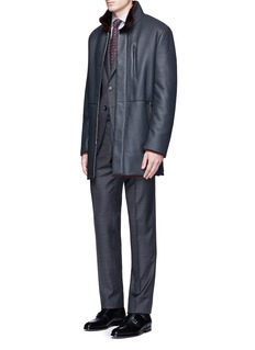 ISAIA 'Gregory' overcheck Aquaspider wool suit