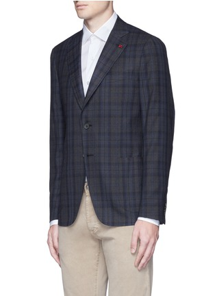 Front View - Click To Enlarge - ISAIA - 'Cortina' check wool blazer
