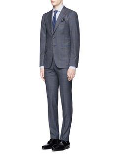 ISAIA'Cortina' bouclé check plaid wool suit