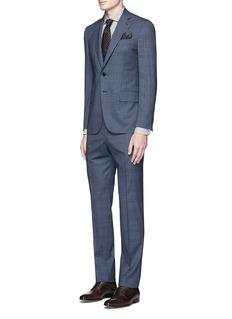 ISAIA'Gregory' Glen plaid Aquaspider wool-silk suit