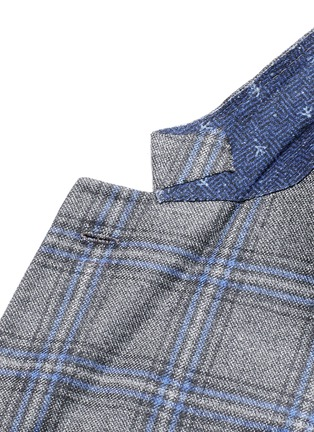 Detail View - Click To Enlarge - ISAIA - 'Cortina' check cashmere blazer
