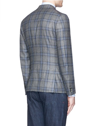 Back View - Click To Enlarge - ISAIA - 'Cortina' check cashmere blazer