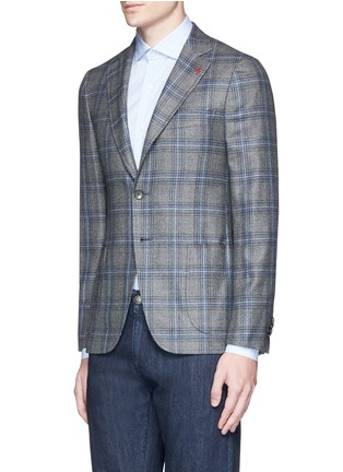 Front View - Click To Enlarge - ISAIA - 'Cortina' check cashmere blazer