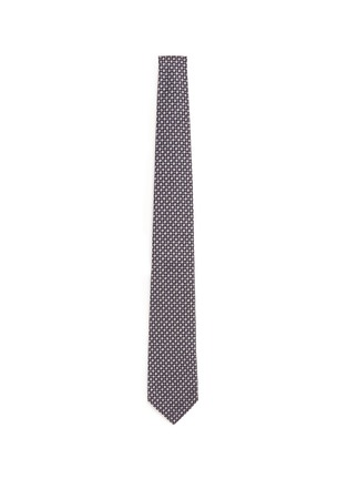 Main View - Click To Enlarge - ISAIA - Dot jacquard silk tie