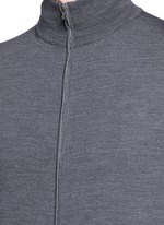 Extra fine Merino wool zip cardigan
