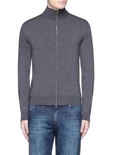 ISAIAExtra fine Merino wool zip cardigan