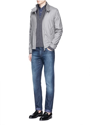 Figure View - Click To Enlarge - ISAIA - Extra fine Merino wool zip cardigan