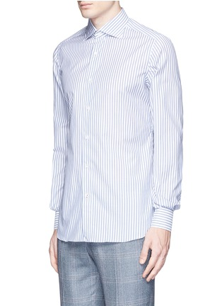 Front View - Click To Enlarge - ISAIA - 'Milano' stripe cotton shirt