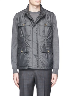 ISAIA Retractable hood vest
