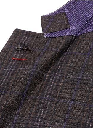 Detail View - Click To Enlarge - ISAIA - 'Cortina' check wool blazer
